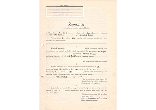 Articles of incorporation, 1947
